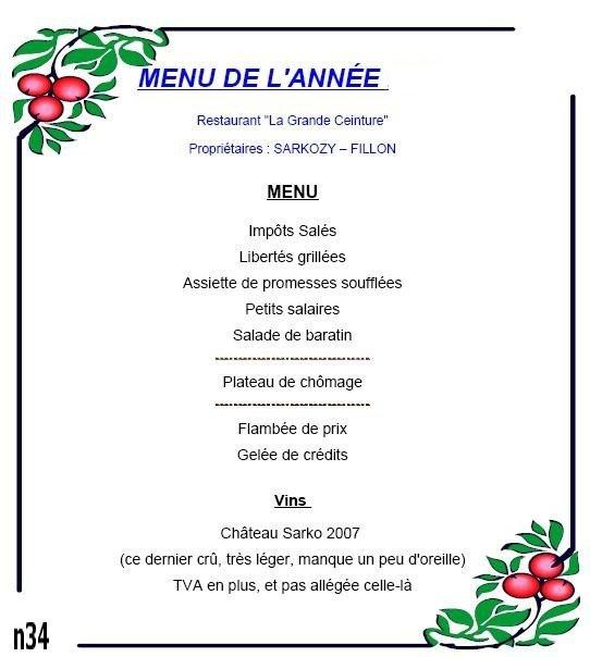 Le menu de no l besoin de gauche 28 for Menu repas amis